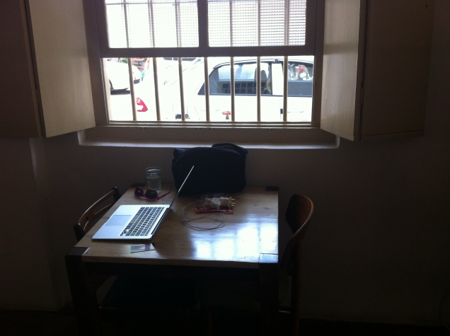 WrICE writing room in the Ren i Tang Bistro