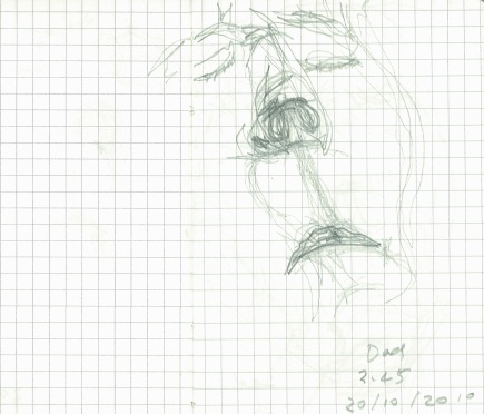 Dad's mouth, from A little book of breathing, 2010