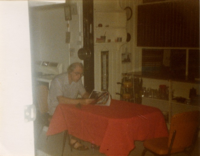 My father at the kitchen table, Durham Street, St Lucia, c. 1978 all images by Francesca Rendle-Short.
